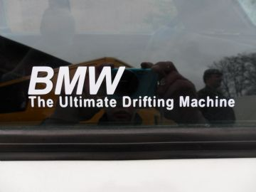 The Ultimate Drifting Machine sticker, Decal. For BMW e36,e30 M3,325i, e34,e28 M5,e21 M6,635 csi,e21